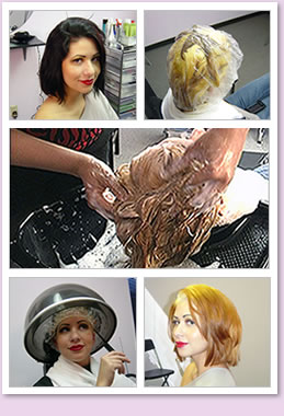 Bleach and color hair transformation.