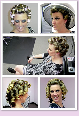 Go-Go curls retro style from the sixties.
